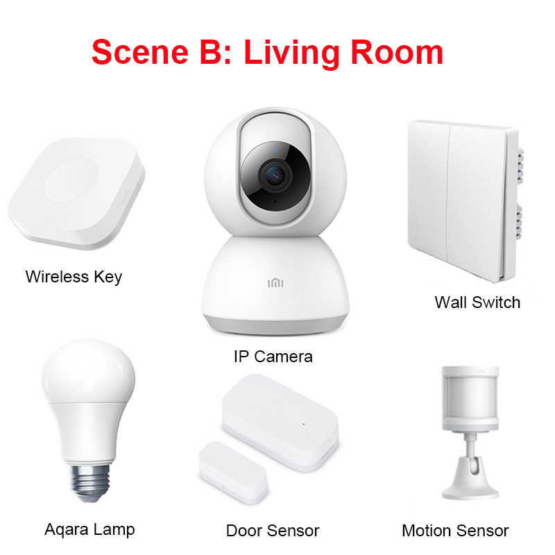 Xiaomi Aqara czujnik drzwi czujnik ruchu Aqara Gateway centrum ściany bezprzewodowy przełącznik czujnik wody czujnik temperatury i wilgotności zestawy do domu