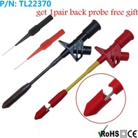 2pcs TL22370 Full Insulated Heavy Duty Insulation Piercing Probe Automotive Test Clip 1pair Free Back Probes