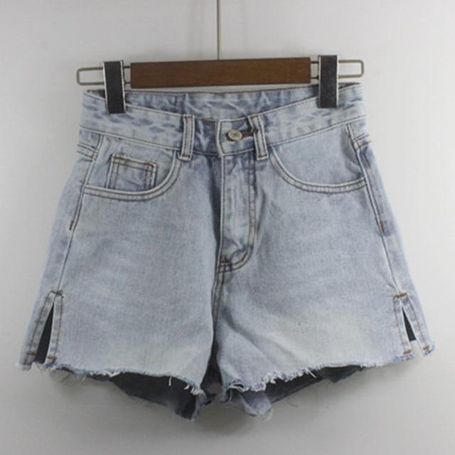 783f7cfa1ac3 € 20.22 |2017 Nueva Hembra Del Verano Señoras Destoryed Jeans de Talle Alto  Azul Denim Shorts Calientes, las mujeres Ocasionales de La Vendimia ...