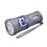 FandyFire YL-U2 2000lm-Mode Cool White ánh sáng mạnh mẽ LED Đèn Pin với ba XM-L U2 LED bóng đèn, dây đeo-Grey (3x18650)