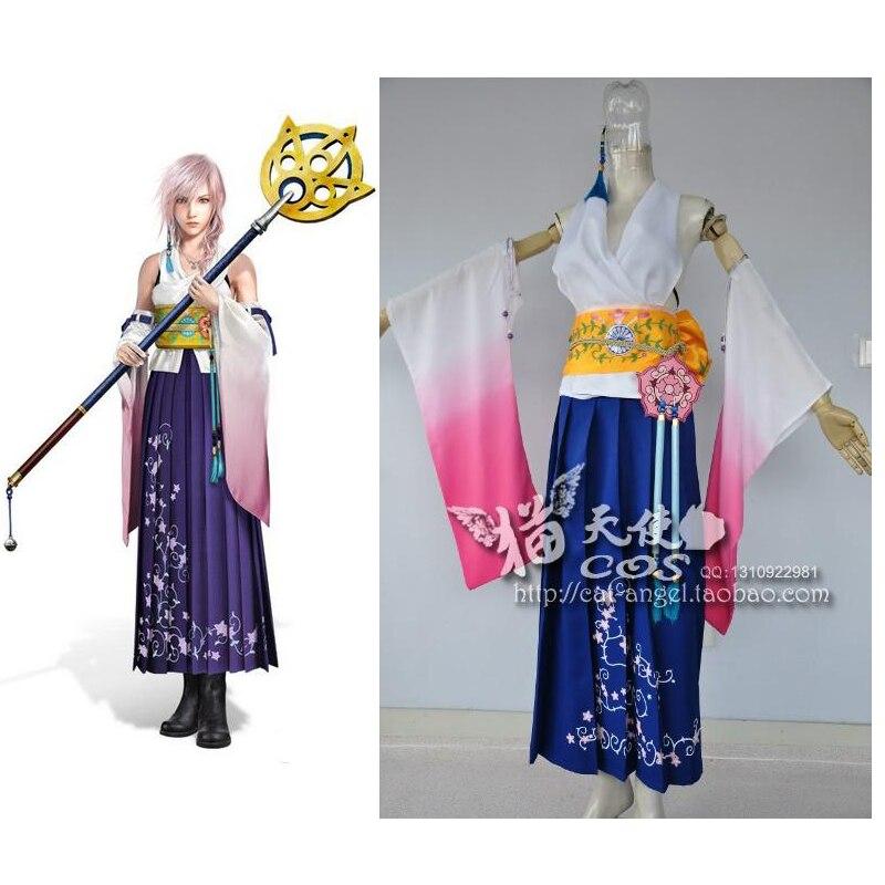 2016 Custom Made Final Fantasy X 10 Yuna Cosplay Costume Clothing