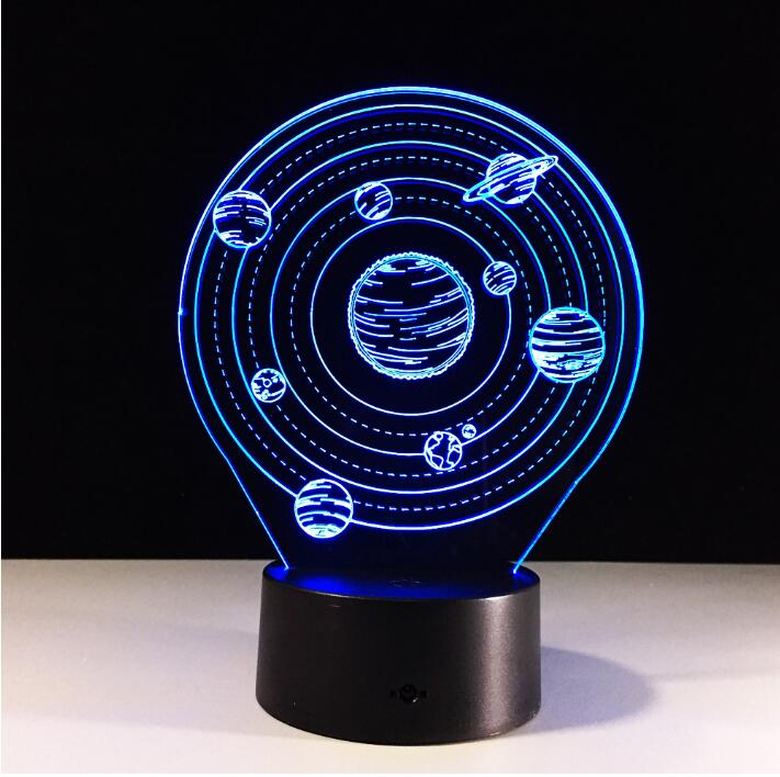 3D Visual Planet LED Table Lamp Calming 3D Vision Illusion Desk Lamp 7 Color Changing 3D LED Night Light dropshipping