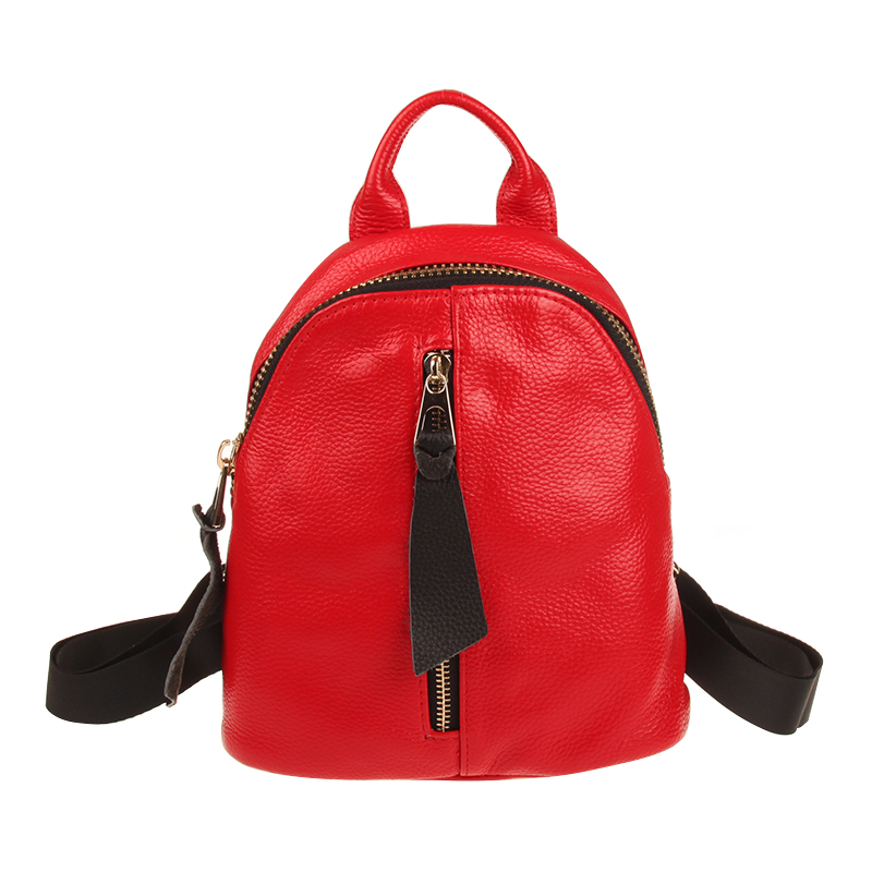 2017 Fashion Brand Women Backpack Genuine Leather Small Backpacks For Girls Real Cowhide Leather Backpacks Pink Mochila Feminina
