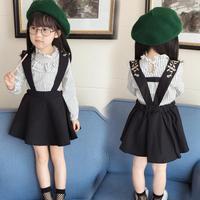 New Spring Autumn Baby Girls Clothes Casual Ruffles T Shirt Princess Dress Vestidos Kids Children Clothes