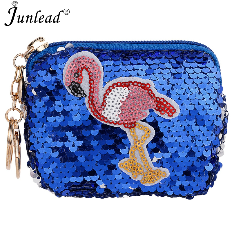Detail Feedback Questions about Junlead New Sparkly Sequins Female Flamingo Cheap  Coin Purse Pocket Change Wallet For Girl Key Chains Cute Fancy Card Coin ... 4a3e69c11b3f