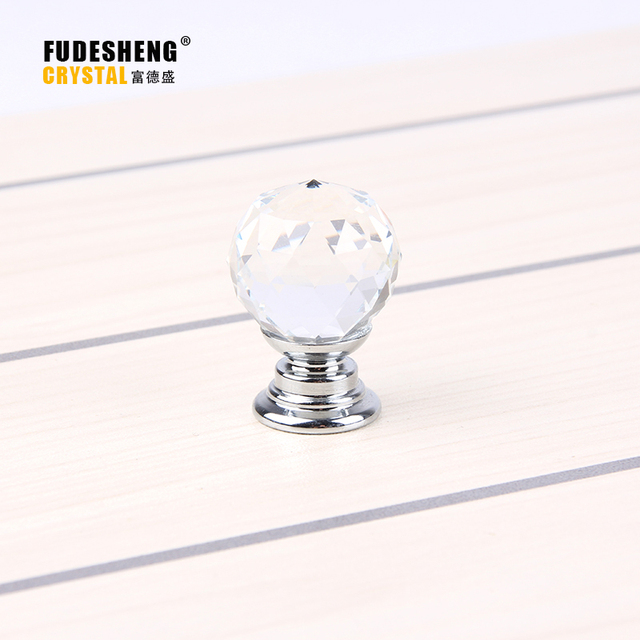 10Pcs 20mm K9 Crystal Glass Ball Clear Cabinet Knob Drawer Pull Handle  Kitchen Door Wardrobe Hardware
