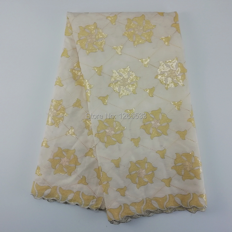 African voile lace Swiss high quality organza lace with full sequins for large party dress fabrics