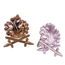 Pin de hojas de roble broche con espada vintage oro plata insignia Alemania joyería hombres patriot regalo Camisas Chaquetas accesorio