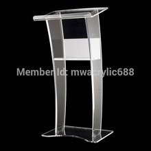 Free Shipping Stable Beautiful Modern Design Cheap Clear Acrylic Lectern podium