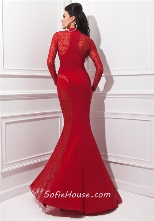 256519eec3effe Lange Rode Jurken 2017 Lange Mouwen Sexy Mermaid Lace Avondjurk Floor  Lengte Elegante vrouwen Prom Jurk Plus Size 11041720 in Lange Rode Jurken  2017 Lange ...