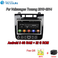 YESSUN Android 8.0 4G RAM Touch Screen DVD For Volkswagen Touareg 2010~2014 Car Navigation GPS Multimedia Player mirror link