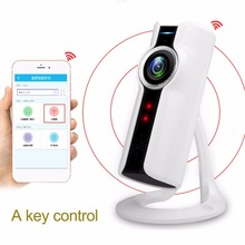 Portable VR 180 Degree Panoramic Camera 720P Wifi Remote Control Surveillance Camera Cylinder Home Office Security Camera