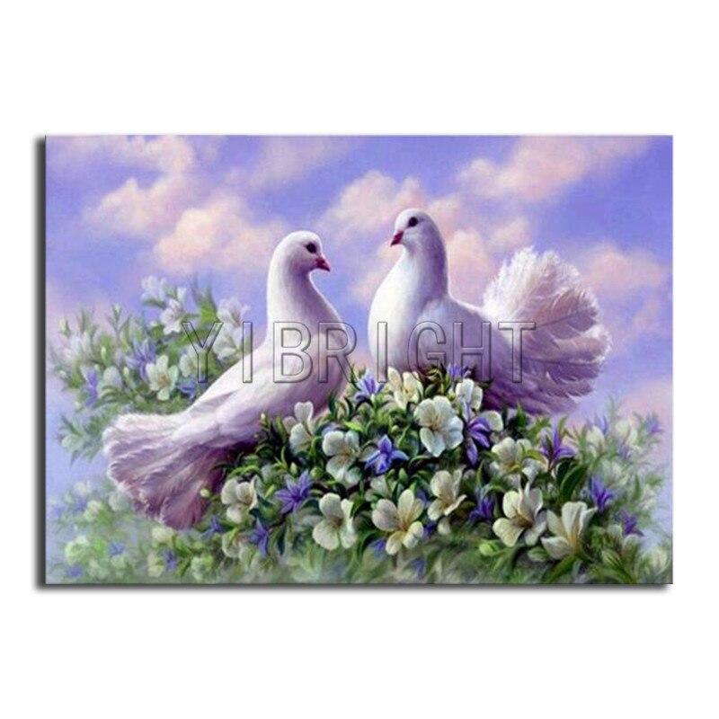 Voll Platz Diamant mosaik familie vögel 5D DIY Diamant stickerei kreuzstich pigeon Liebes Voll Runde Diamant malerei blume