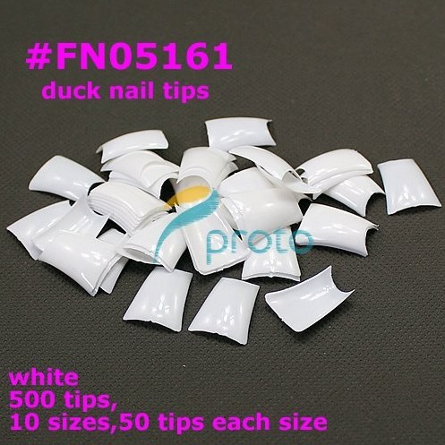 FREESHIPPING 500 Special Duck Feet french nail art tips half cover SKU:A0032X