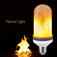E27 6W LED Flame Bulb Flickering Flame Effect Simulated Fire Light Decorative For Hotel Bars Home