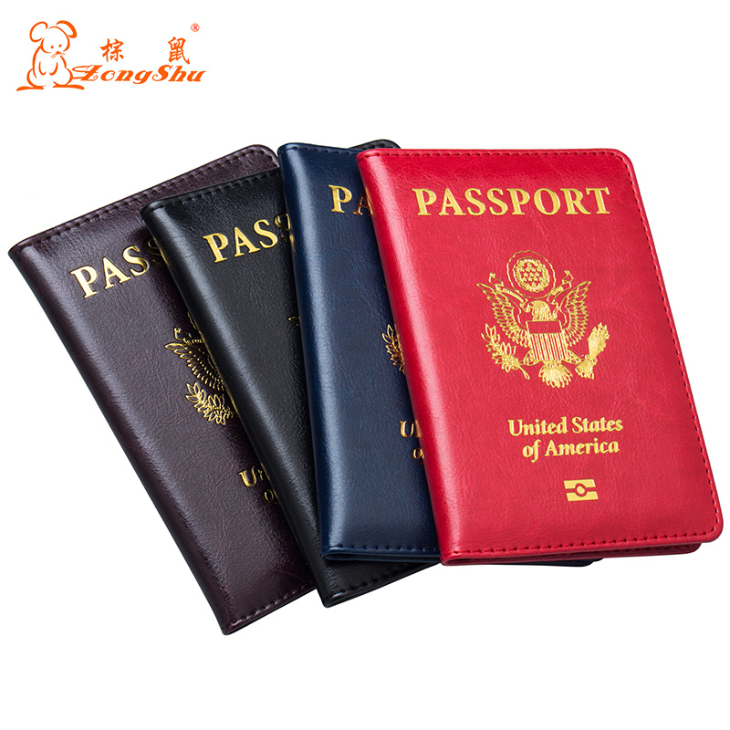 Card & Id Holders Russian Fashion Color Mixing Double-headed Eagle Pu Leather Passport Holder Built In Rfid Blocking Protect Personal Information Coin Purses & Holders