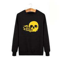In 2016 The New Winter Sports Leisure Suit Sweater Personality Horror Skull Tattoo Men S Long