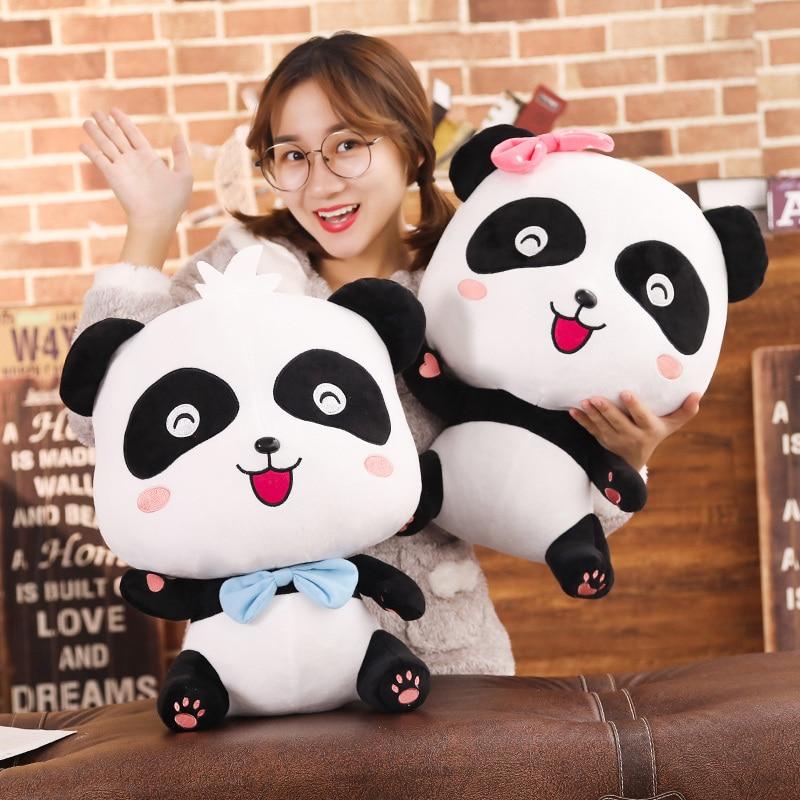 BabyBus 22/35/50cm Cute Panda Plush Toys Hobbies Cartoon Animal Stuffed Toy Dolls For Children Boys Baby Birthday Christmas Gift