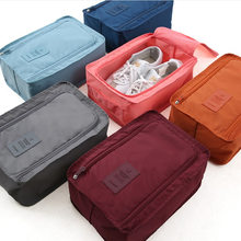 Convenient Travel Storage Bag Nylon 6 Colors Double Layer Portable Organizer Bags Shoe Sorting Pouch multifunction(China)