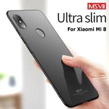 MSVII Cases For Xiaomi Mi 8 Pro SE Case Slim Frosted Cover Mi8 Lite Hard PC Xiomi M8 Phone