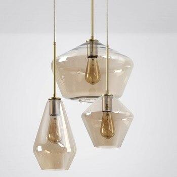 Nordic Glass Pendant Light Edison Bulb Hanging Light Bronze Glass Retro Luminaire Loft Pendant Ceiling Lamp Modern Hanglamp