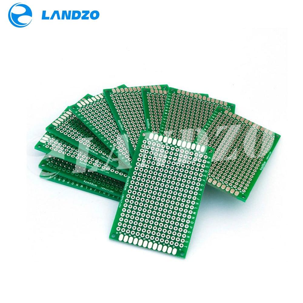 LANDZO Electronic Technology Co.,Ltd 10pcs Double Side Copper Prototype PCB Tinned Universal Board Experimental Development Plate 40x60mm 4x6cm