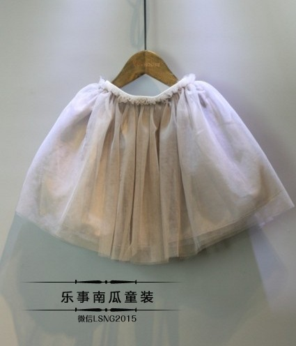 2016 New Girl Skirt Summer Sweet Veil Material Tutu Skirt With Good Quality  (1)
