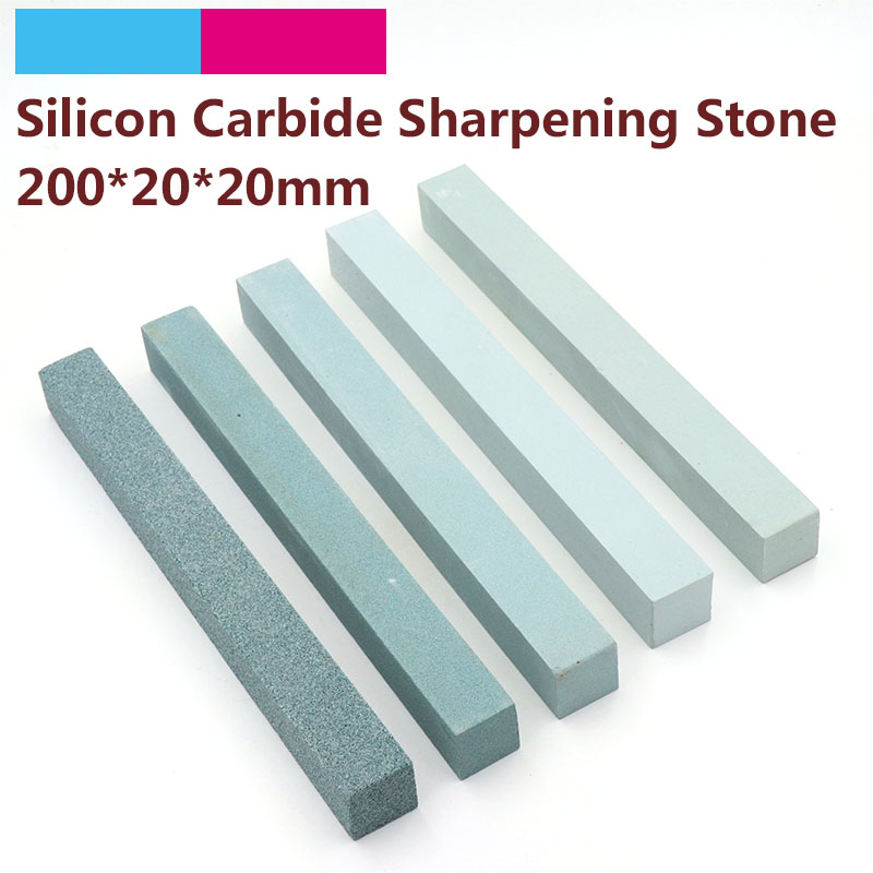 1pc 80 To 3000 Grit Square Jade Knife Sharpener Sharpening Stone 200x20mm Green Silicone Carbide Oil Stone Polish Grinding Tools