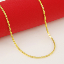 Wholesale Fashion 24k GP women necklace Jewelry pure gold color 3mm Snake bone chain Necklaces for women 45cm