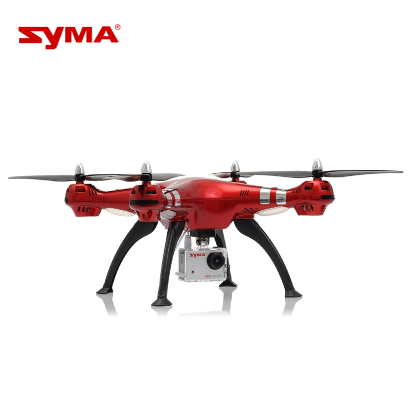 Luxury Red Colors Original Syma X8HG Drone 8.0MP HD Camera RC Quadcopter with Barometer Set Height Headless Mode RC Helicopter jjr c jjrc h43wh h43 selfie elfie wifi fpv with hd camera altitude hold headless mode foldable arm rc quadcopter drone h37 mini