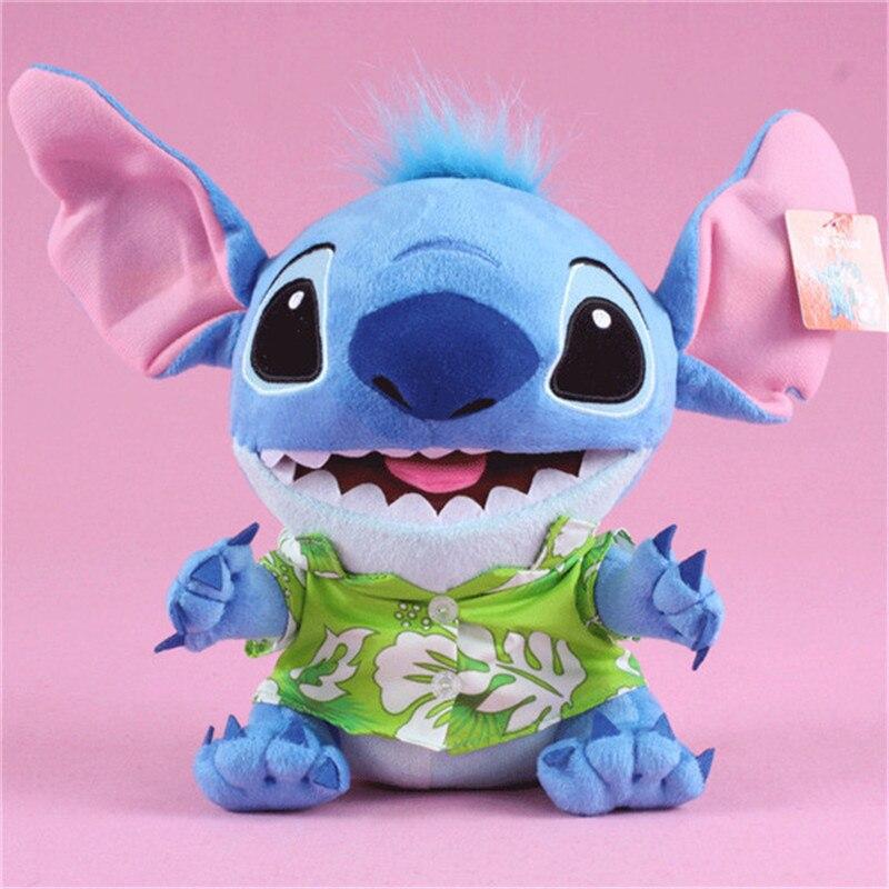 Kawaii Anime Stitch Plush Toys Big Lilo and Stitch Stich Stuffed Dolls Blue Stitchs Kids Birthday Christmas Gift 30cm  (3)