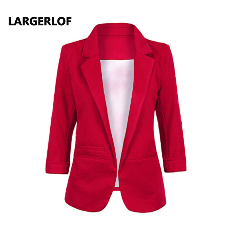 LARGERLOF Plus La Taille Blazer Femmes Trois Femmes Trimestre Blazer Slim Fit Simple Femmes Blazers Et Vestes BR55002