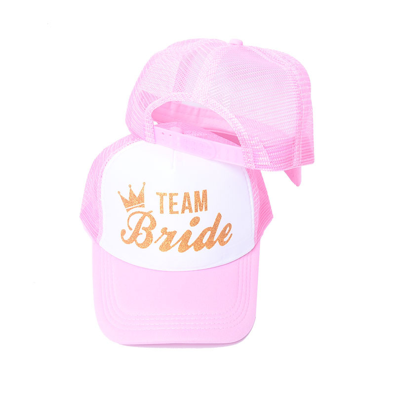 Women's Bride Team   Baseball     Cap   Bachelor Party Gold Color Letters New Trendy Hat Girl's Bridal Crown Adjustable Hat 1 pcs