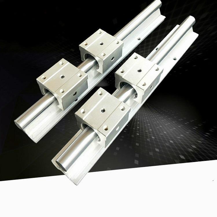 macinino 500//800 mm 2 X SBR25 guida lineare albero e 4 X SBR25UU Linearblock diametro 25 mm per fresatrice CNC fai da te 500 mm