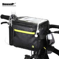 Bolso delantero de bicicleta rinowalk pantalla táctil de 7 pulgadas bolso de teléfono de manillar impermeable bicicleta eléctrica plegable 4.5L bolso de la cámara