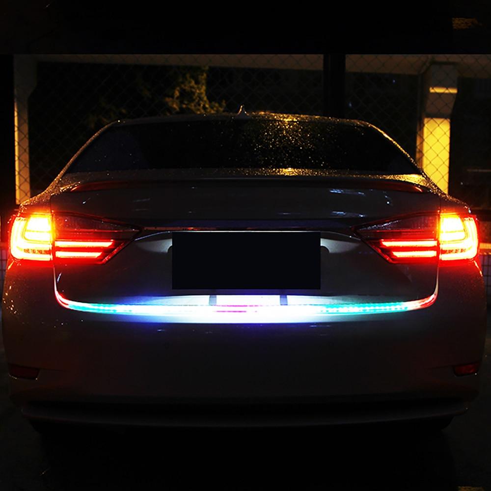 7 Color Flow Led Strip Car Trunk Light DRL Turn Signals