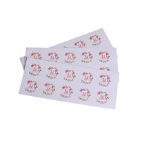 100 Pcs/lot Fresh Thank you Flower sealing sticker floral hoop Sticker Adhesive For Hand Made Gift