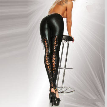 Sexy Latex Faux Leather Legging