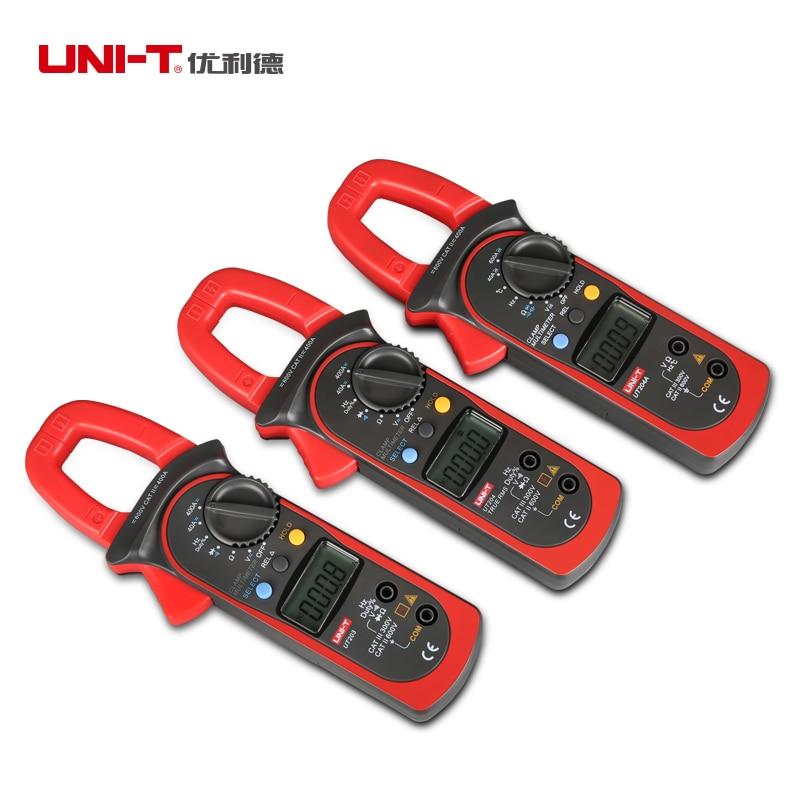 Free Shipping UNI-T UNIT UT204A Digital Handheld Clamp Multimeter Tester DMM Voltmeter AC DC