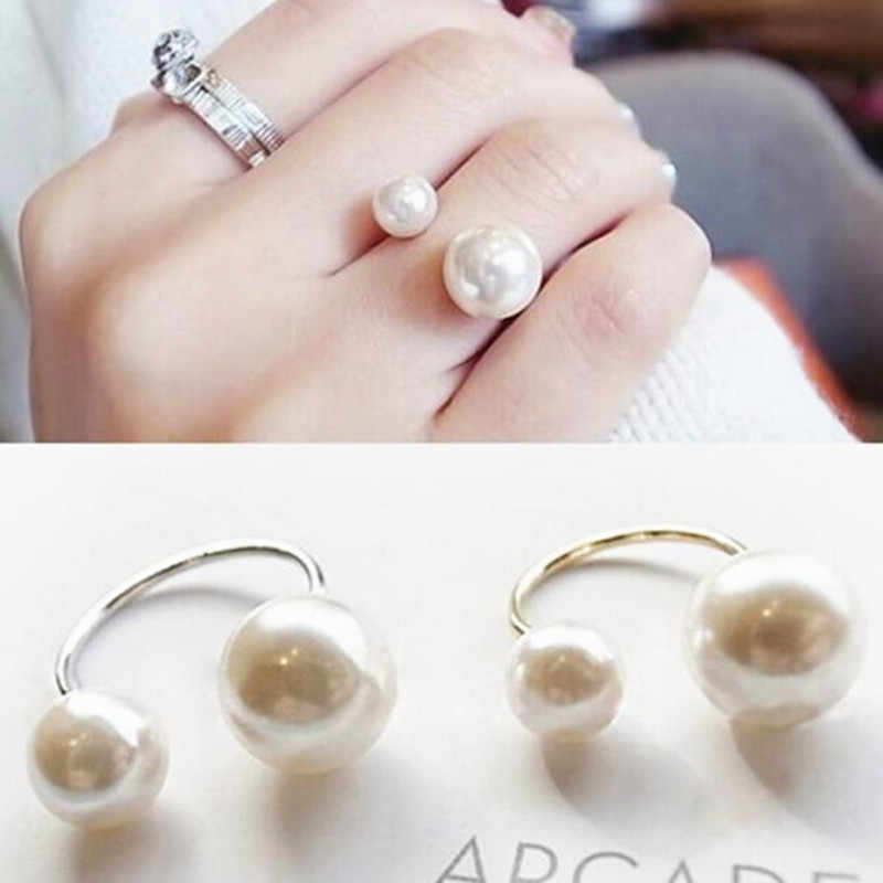 คลาสสิกย้อนยุคแหวนนิ้วคู่กลวงข้ามขวา Zhilong คู่เปิดแหวนสำหรับผู้หญิง 4CRD76