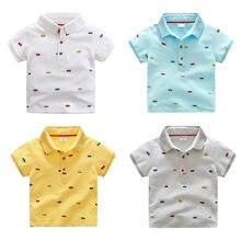 b5d9a02f670ca 2018 Garçons Vêtements D'été Style Coton T-shirt Pour Garçon Polo Chemises  Voitures Impression de Bande Dessinée Enfant T-shirt .