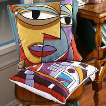 Modern minimalist abstract geometric hug pillowcase creative pillow waist sofa home decor