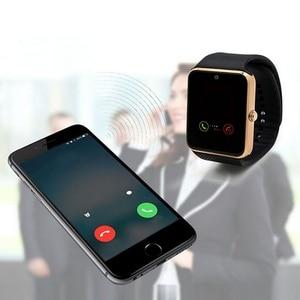Image 5 - Bluetooth GT08 montre intelligente écran tactile grande batterie horloge Support TF carte Sim caméra Smartwatch pour IOS iPhone Android téléphone