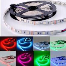 LED şerit 5050 DC12V esnek ışık 60LED/m 5 m/grup, RGB/Pembe//Mor/Buz Mavi 5050 LED Şerit