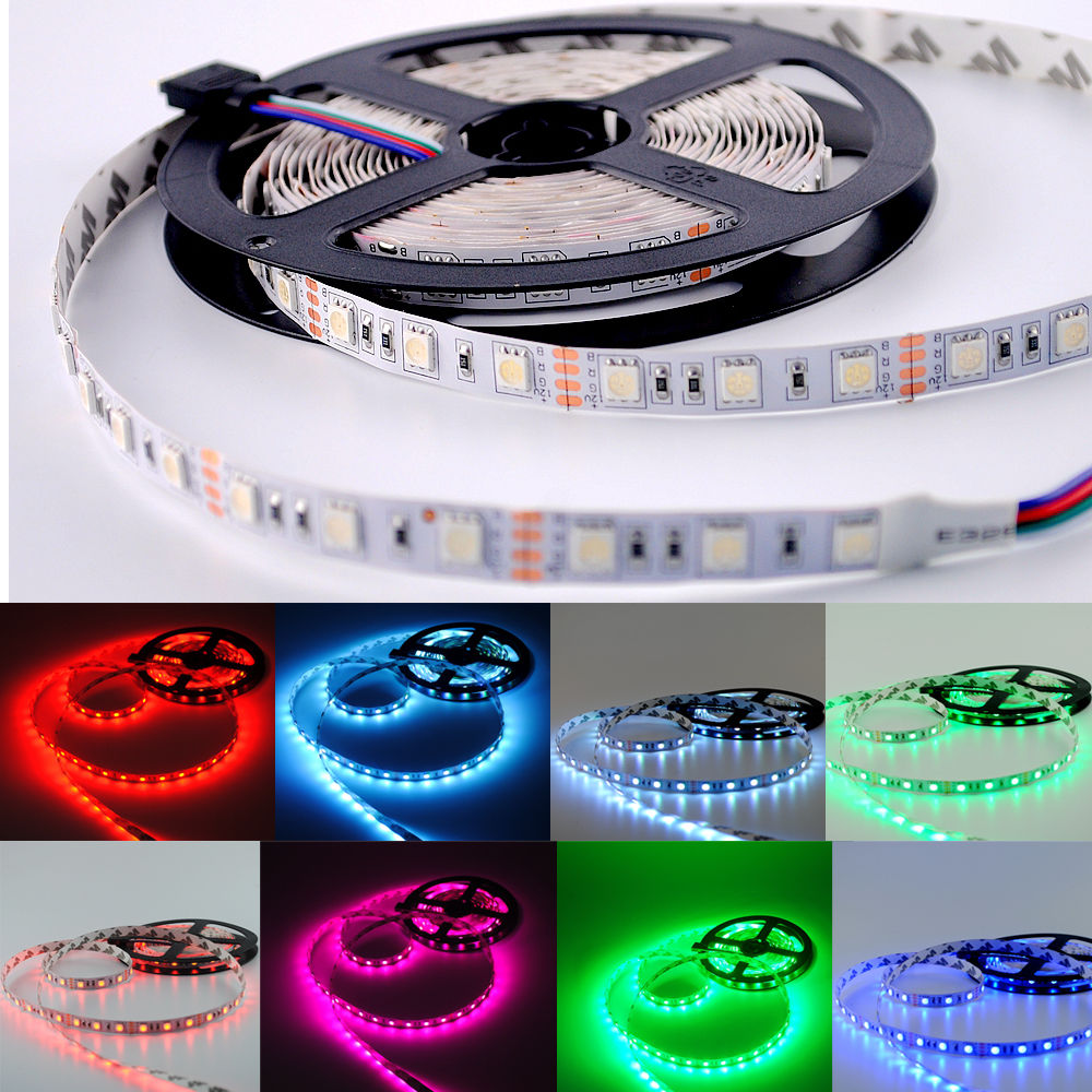 Benzi LED 5050 DC12V lumină flexibilă 60LED / m 5m / Lot, RGB / roz // Purple / Ice Blue 5050 LED Strip