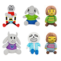 New Undertale plush toys 20-40cm Frisk Sans Papyrus Asriel Toriel soft stuffed dolls cute cartoon toys for Kids gifts