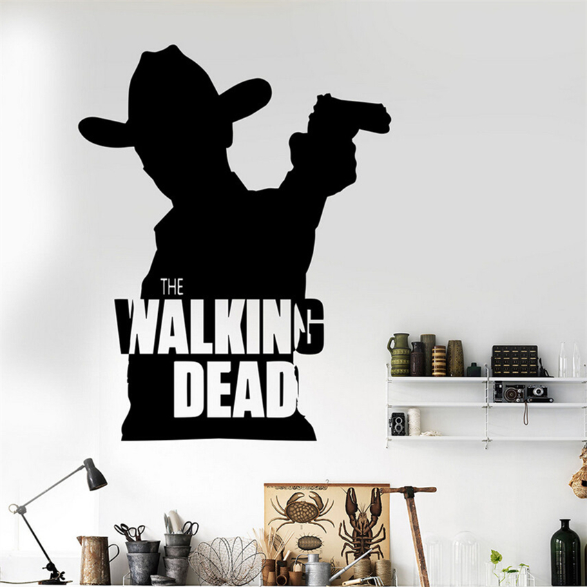 Modern Design Classic Removable Movie Walking Dead Cowboy Wall Decal Home Deco Wall Sticker Bedroom Mural M780 image
