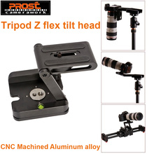 Tripod Head Solution Photography Studio Camera Tripod Z Pan & Tilt Flex Aluminum Alloy Tilt Head Multi-angle Folding