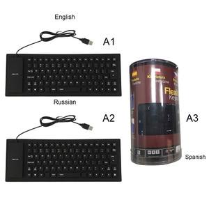 Image 3 - Flexible Wasserdicht Silikon Mini Gaming Tastatur Tragbare USB Tastatur für Tablet Computer Laptop PC Neue Heiße
