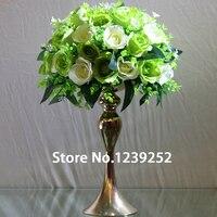5 sztuk Złoto/Sliver Metal Świecznik 30 cm Wysokie Kandelabry Świeca Stanąć Na Wesela Imprezy Wieca trzyma Kwiat wazon (NIE kwiat